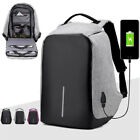 unisex anti theft waterproof backpack usb port