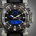 INFANTRY MENS DIGITAL ANALOG WRIST WATCH CHRONOGRAPH SPORT MILITARY BLACK RUBBER image