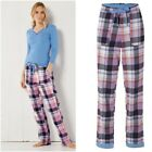 NEW WHITE STUFF Cosy Check Cotton Pyjama Bottoms Trousers Night Owl 8 to 16