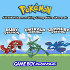 pokemon games sapphire - POKEMON RUBY SAPPHIRE OR EMERALD All 386 SHINY POKEMON GAME UNLOCKED AUTHENTIC