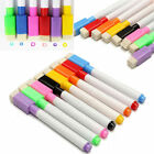 5/10Pcs Whiteboard Markers Black White Board Dry-Erase Marker Pens with Eraser