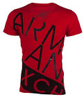 ARMANI EXCHANGE Mens T-Shirt BIAS Slim Fit RED Casual Designer $45 Jeans NWT