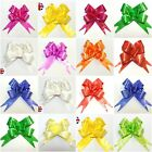 50 Pull Bow Decorations Large Wedding Car Xmas Gifts Wrap Floristry 10 Colours
