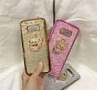 Luxury Lovely Diamond Ring Stand Bling Glitter Soft Silicone Phone Case Cover