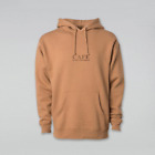 Skateboard Cafe Latte Embroidered Hood - Saddle Hoodie
