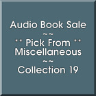 Audio Book Sale: Miscellaneous (19) - Pick what you want to save
