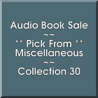 Audio Book Sale: Miscellaneous (30) - Pick what you want to save