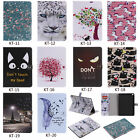 Painted 3D Flip Wallet Stand Case Cover For Samsung SM-T530 T550 T560 T715 T815