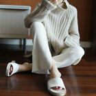 Chic Women  High-Necked Warm Sweater Long Sleeve Coat Tops S-XL