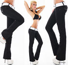 Sexy Women's Low Cut Hipster Jeans Bootcut Black Jeans Pants + Belt 6,8,10,12,14
