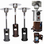 Patio Heater Garden Outdoor Propane Heater Tall Stand Silver Black Gold Hammered