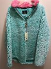 Simply Southern Sherpa Pullover Teal  & Pink Seaglass - New