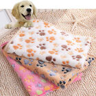 Pet Mat Cat Dog Puppy Paw Bone Printed Soft Fleece Blanket Bed Cushion Cheap