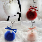 Lovely Girl Key Ring Ball Fashion Faux Rabbit Fur Ball Key Ring Bag Plush Chain
