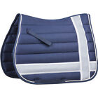 Roma Line Quilt All Purpose Unisex Saddlery And Equipment Saddle Pad - Navy Grey