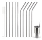 Metal Drinking Straws Stainless Steel Drinks Straw Cleaner Party Reusable Bar Uk