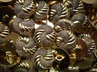 20mm 32L Gold Knot Twisted Rope Shank Blazer Jacket Plastic Craft Buttons (P98)