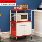 Kitchen Island With Locking Wheels Drawer Cabinet Shelf Kitchen Cart Storage