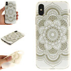 2018 Clear TPU + IMD Soft Case Cover For iPhone 7 8 Plus X Samsung LG Huawei ZTE