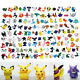 Mini 2-3cm Anime Pokemon Pikachu Monster Action Figures Toy For Kids Child Gift