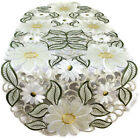 Table Runner, Doily, Mantel Scarf with Large Yellow Daisy on Ivory Material