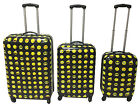 Emoji Designs, Hardside, Wheeled, Rolling, 3 Piece Luggage Set.