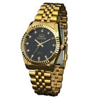 CHENXI Luxury Mens Gold Stainless Steel Quartz Wrist Watch Business Watch Women