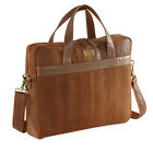 "MEN CRACKLE DISTRESED LEATHER LAPTOP BAG FITS 14""-15.6"" BY HYDESTYLE UM45 RRP£99"