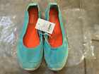 NEW WOMEN MAD LOVE CANVAS SUPER LIGHT FLAT SHOES-MINT (VARIOUS SIZE)