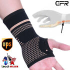 wrist carpal - Copper Sports Wrist Brace Hand Support Palm Sleeve Carpal Tunnel Sprain Strain
