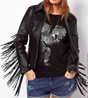 Ladies Western Wear Cowhide Leather Jacket Fringed Handmade Fashion Wear Jacket