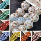 3pcs 16mm Big Round Lampwork Glass Charms Loose Spacer Beads DIY Findings
