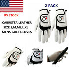 Golf Glove Men Twin Pack Cabretta Leather Grip Left Right Hand Weathersof Fit L