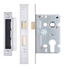 Mortice Door Sash Lock Euro Profile Case Body Sashlocks Cylinder Stainless Steel