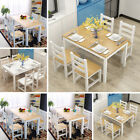Solid Wooden Dining Set with Table and 4 Chairs Bench Kitchen 4-6 Seater Modern