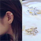 Cartilage Lady Fake Earring Earring Crystal Flower Ear Cuff Wrap Clip On