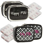 2pk Pill Organizer 7-Day for Women Small Pill Box Travel Cute Weekly Container