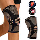 Copper Knee Support Brace Sleeve Arthritis Pain Relief Sports Compression Wraps $12.99 USD on eBay