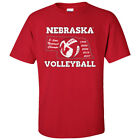 Nebraska Huskers Volleyball 5-Time National Champions Unisex Tee Shirt