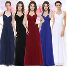 UK Womens Halter Neck Long Prom Bridesmaid Party Maxi Dresses Evening Gown 08487