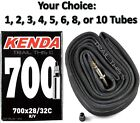 Single or Multi-Pack Kenda 700x28-32C Threaded 32mm Presta Valve Road Bike Tube