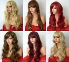 Fashion Women Long Highlight Blonde Brown Red Synthetic Heat OK Hair Wig style D