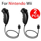 2PCS Nunchuk Nunchuck Controller Remote for Nintendo Wii Console Video Game New