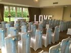 LACE CHAIR SASHES + TABLE RUNNERS + CAKE & TOP TABLE SWAGS PACKAGE - 16 COLOURS