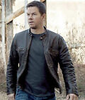 Contraband Mark Wahlberg's Mens Slim Fit Distressed Real Hide Leather Jacket