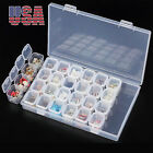 Clear 28Slots Nail Art Holder Storage Organizer Box Jewelry Beads Container Case