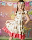 Easter Bunny Dress, girls outfit 2T 3T 4 5 6 7 8 9 , Rabbit spring pink coral