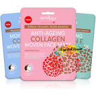 Derma V10 Woven Face Facial Tissue Mask Softens Smooths Nourishes Skin Aloe Vera