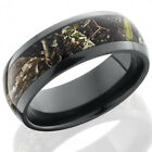 Zirconium 8mm Domed Band with 5mm Mossy Oak Obsession Camo inlay