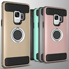 For Samsung Galaxy S9 Hybrid Armor Protective Ring Phone Cover Case